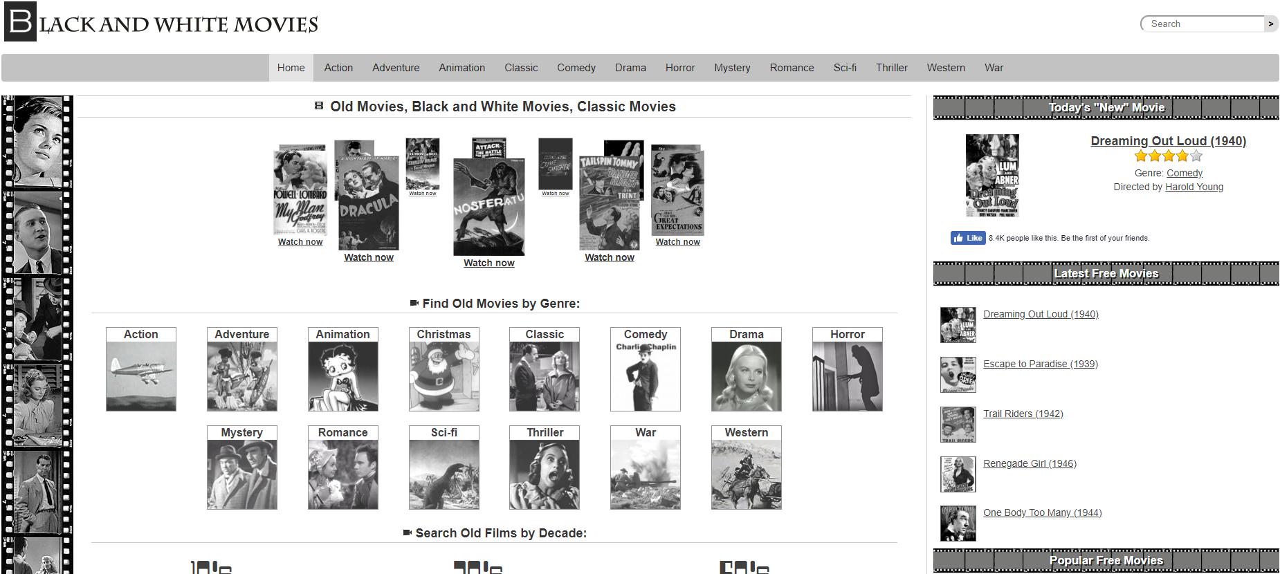 Black and white movies