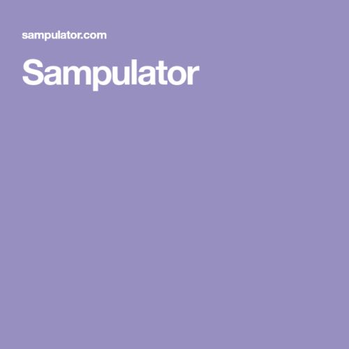 Sampulator
