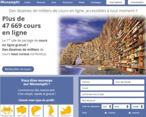 Mon Amphi : 1er site de partage de cours en ligne, gratuit, à partir du Lycée.